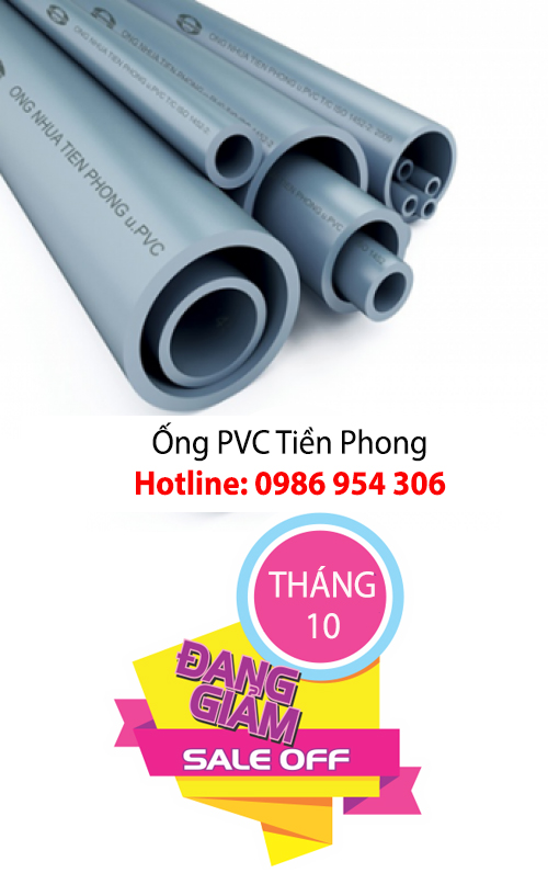 Khuyến mãi ống PVC Tiền Phong